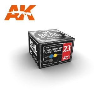 AK Interactive RCS023 COMPLEMENTARY CLEAR COLORS (3x10ml)