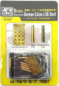 AFV Club 35095 German 8.8cm L/56 Shell for Flak 18/36/37, 1/35
