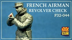 Copper State Models F32-044 French airman checking revolver 1/32