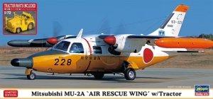 Hasegawa 02361 Mitsubishi MU-2A 'Air Rescue Wing' w/Tractor 1/72