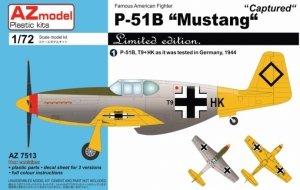 AZmodel AZ7513 P-51B Mustang Captured 1/72