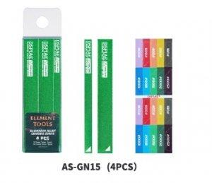 DSPIAE AS-GN15 ALUMINUM ALLOY SND BOARD GREEN 4PCS / Aluminiowa podkładka do papierów ściernych