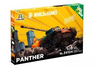 Italeri 34104 PANTHER - WoT - Easy to Build 1/72