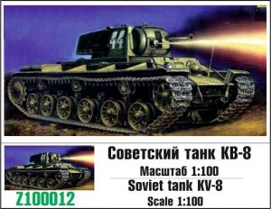 Zebrano Z100-012 Soviet tank KV-8 1/100