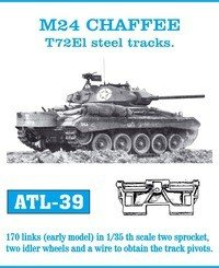 Friulmodel 1:35 ATL-39 M24 CHAFFEE T72El steel tracks.