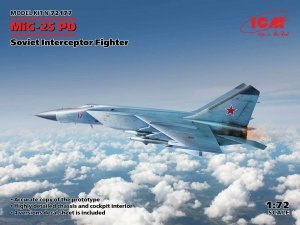 ICM 72177 MiG-25PD Soviet Interceptor Fighter 1/72