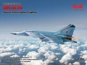 ICM 72177 MiG-25PD Soviet Interceptor Fighter 1/72