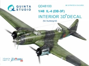 Quinta Studio QD48100 IL-4 3D-Printed & coloured Interior on decal paper (for Xuntong kit) 1/48