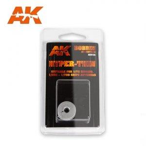 AK Interactive AK 9135 ELASTIC RIGGING BOBBIN HYPER-THIN 0,030 mm