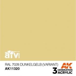 AK-Interactive AK 11320 RAL 7028 Dunkelgelb (Variant) 17ml