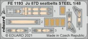 Eduard FE1193 Ju 87D seatbelts STEEL HASEGAWA / HOBBY 2000 1/48