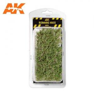 AK Interactive AK 8174 BLOMMING WHITE SHRUBBERIES 75MM / 90MM 1/35