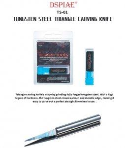 DSPIAE TS-01 Tungsten Steel Triangle Carving Knife / Rysik ze stali wolframowej