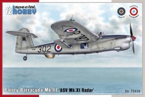 Special Hobby 72408 Fairey Barracuda Mk. III ASV Mk. XI Radar 1/72