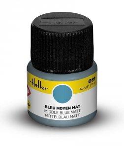 Heller 9089 089 Middle Blue - Matt 12ml