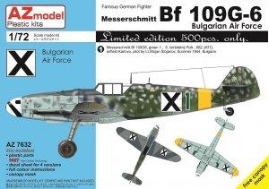 AZ Model AZ7632 Bf 109G-6 Bulgarian Air Force 1/72