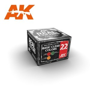 AK Interactive RCS022 BASIC CLEAR COLORS (3x10ml)