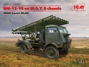ICM 35591 BM-13-16 on W.O.T. 8 chassis, WWII Soviet MLRS 1/35
