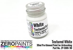 Zero Paints 1389-30 White Textured - Engines, Interiors etc 30ML