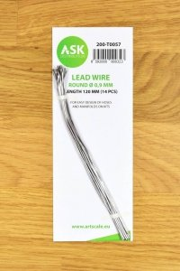 ASK T0057 Lead Wire - Round Ø 0,9 mm x 120 mm (14 pcs)
