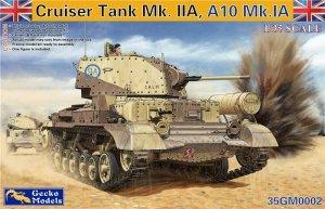Gecko Models 35GM0002 CRUISER TANK MK.II A,A10 MK.IA WITH INTERIOR (1:35)