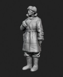 Panzer Art FI35-129 Soviet tank officer in sheepskin coat No.1 1/35