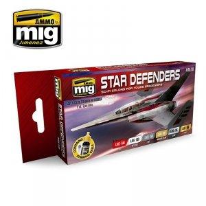 AMMO of Mig Jimenez 7130 STAR DEFENDERS SCI-FI COLORS 6x17ml