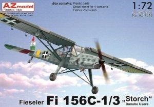 "AZ Model AZ7648 Fieseler Fi 156C-1/3 ""Storch"" Danube Users 1/72"