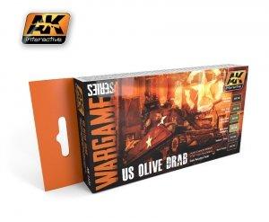 AK Interactive AK 1131 us olive drab set (wargame series)