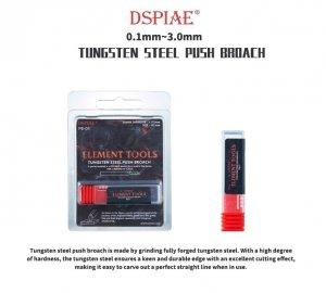 DSPIAE PB-16 1.6mm Tungsten Steel Push Broach / Rysik ze stali wolframowej