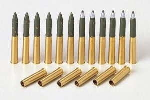 Tamiya 35191 M4 Sherman Brass 75mm projectiles 1/35