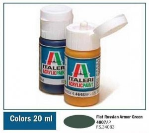 Italeri 4807 FLAT RUSSIAN ARMOR GREEN 20ml