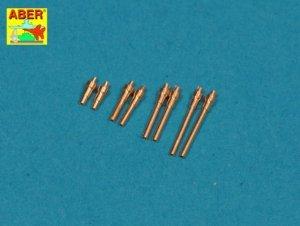 Aber A72 005 Set of 8 turned cal .50 (12,7mm) U.S. Browning M2 barrels for P-47 Thunderbolt (1:72)