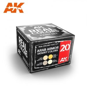 AK Interactive RCS020 ARAB ARMOR DESERT COLORS SET (4x10ml)