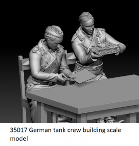 Glowel Miniatures 35017 German tank crew building scale model 1/35
