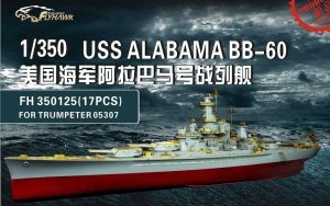 Flyhawk FH350125 USS Alabama BB-60 (for Trumpeter 05307) 1/350