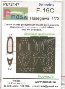 P-Mask PK72147 Lockheed-Martin F-16C Fighting Falcon (Hasegawa) 1/72