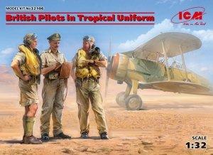 ICM 32106 British Pilots in Tropical Uniform (1939-1943) (3 figures) 1/32