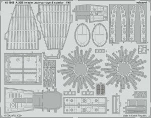 Eduard 481008 A-26B Invader undercarriage & exterior for ICM 1/48