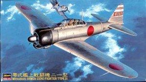 Hasegawa JT43 MITSUBISHI A6M2B Zero Fighter Type 21 1/48