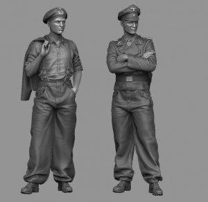 Panzer Art FI35-143 Waffen-SS tank officers set 1/35