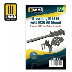 Ammo of Mig 8148 Browning M1919 with M20 AA Mount 1/35