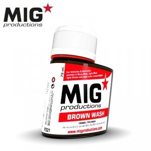 Mig Productions P221 BROWN WASH 75ml