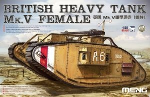 Meng Model TS-029 British Heavy Tank Mk. V Female 1/35