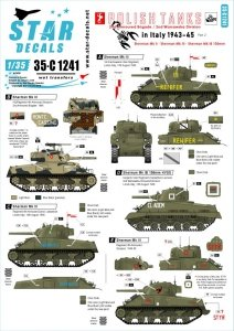 Star Decals 35-C1241 Polish Tanks in Italy 1943-45 # 2 1/35