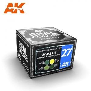 AK Interactive RCS027 WW2 US AIRCRAFT INTERIOR COLORS 4x10ml