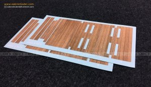 Sabre 35B03 Complete Wood Grain Decals for railcar deck (For SABRE 35A05) 1/35