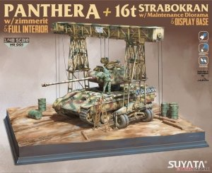 Suyata NO-001 Panther A w/ Zimmerit & Full Interior + 16t Strabokran w/ Maintenance 1/48