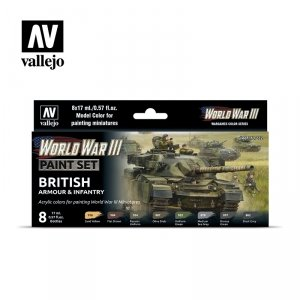 Vallejo 70222 WWIII British Armour & Infantry 8x17ml