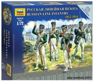 Zvezda 6808 Russian Line Infantry 1812 - 1814 Napoleonic Wars 1/72